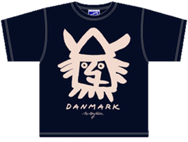 VIKING HEAD NAVY T-SHIRT